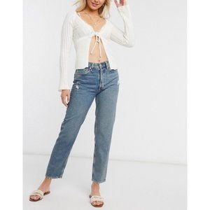 Free People Fast Times High Rise Mom Jean Size 24